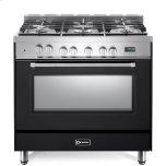 "Matte Black 36"" Dual Fuel Single Oven Range - Prestige Series"