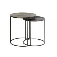 Side table S/2 41x46+ 49x52 cm TALCA ant copper+bronze circ