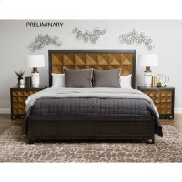 Hudson 3 Drawer Nightstand in Gold and Black Product Image