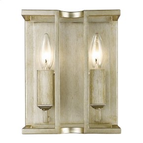 Bellare 2 Light Wall Sconce in White Gold