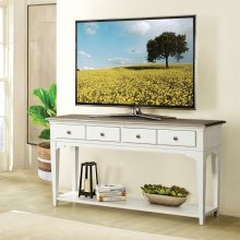 Myra - Sofa Table - Natural/paperwhite Finish
