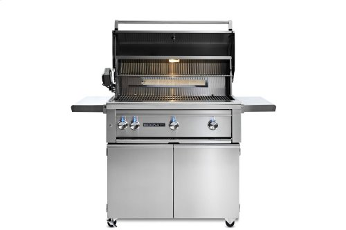 """36"""" Sedona by Lynx Freestanding Grill with 2 Stainless Steel Burners and ProSear Burner and Rotisserie, LP"""
