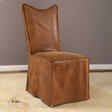 Delroy, Armless Chair, Cognac, 2 Per