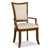 Windward Bay XX-Back Upholstered Arm Chair Warm Rum finish Product Image