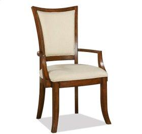 Windward Bay XX-Back Upholstered Arm Chair Warm Rum finish