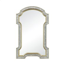 "Val-de-Grace Antiqued Glass with Cr me Gold 50"" Glass and Composite Wall Mirror"