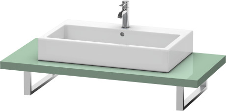 Console For Above-counter Basin And Vanity Basin, Jade High Gloss Lacquer