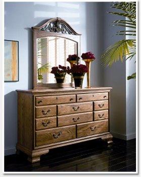 Westchester Oaks Gate Dresser Mirror