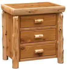 XL Three Drawer Nightstand Natural Cedar