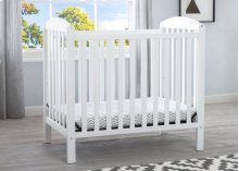 Mini Crib with Mattress - Bianca White (130)