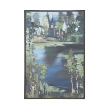 Mountain Lake Hand Painted Waterscape