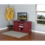Burnt Red Barn Door TV Console Product Image