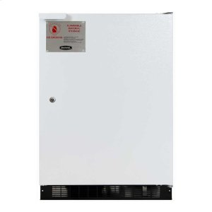 Marvel24-In Flammable Material All Refrigerator with Door Style - White