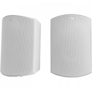 """Polk AudioAll Weather Outdoor Loudspeakers with 5.25"""" Drivers, 1"""" Tweeters and PowerPort Bass Venting in White"""