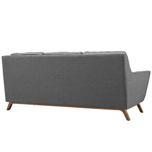 Beguile Upholstered Fabric Sofa in Gray