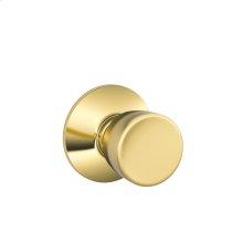 Bell Knob Hall & Closet Lock - Bright Brass