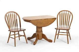 Dining - Classic Oak Drop Leaf Pedestal Base