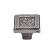 Square Inset Knob 1 5/16 Inch - Cast Iron