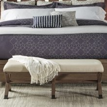 Mirabelle - 50-inch Upholstered Bed Bench - Ecru Finish