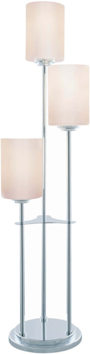 3-lite Table Lamp, Chrome W/frost Glass Shade, E27 A 60wx3