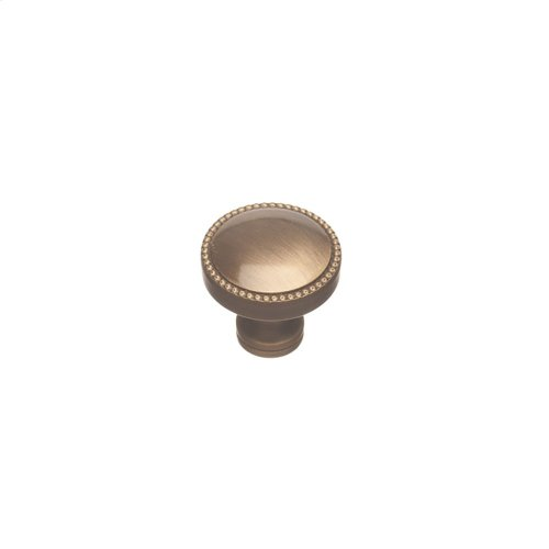 "1 1/4"" Knob - Matte Antique Brass and Matte Antique Brass"
