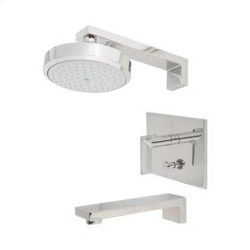 White Balanced Pressure Tub & Shower Trim Set