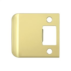 "Extended Lip Strike Plate, 2 1/2"" Overall - Polished Brass"