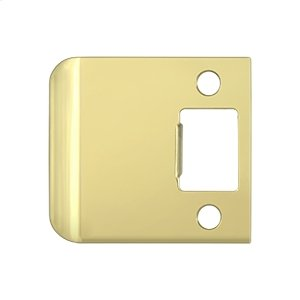 """Extended Lip Strike Plate, 2 1/2"""" Overall - Polished Brass"""