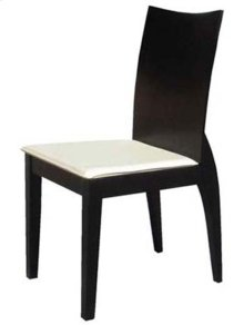 Material: Solid Wood - Dining Chair - High Quality With Round Legs, Cream Cushion