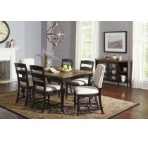 Castle Hill Rectangle Dining Chair With 6 Ladder Back Chairs Product Image