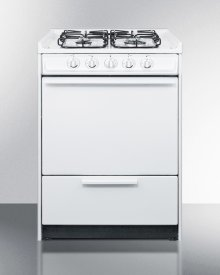 """24"""" Wide Slide-in Gas Range In White With Sealed Burners and Electronic Ignition; Replaces Wnm616r/wtm6107srt"""