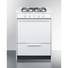 "24"" Wide Slide-in Gas Range In White With Sealed Burners and Electronic Ignition; Replaces Wnm616r/wtm6107srt"