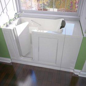 Luxury Series 28x48-inch Left Drain Walk-In Bathtub Combination Massage with Tub Faucet  American Standard - Linen