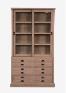(LS) Edward Bookcase w/ Sliding Doors and 6 Drawers (K/D) .... Product Image