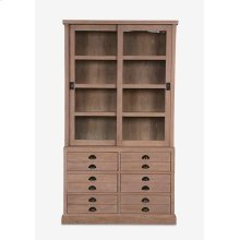 (LS) Edward Bookcase w/ Sliding Doors and 6 Drawers (K/D) ....
