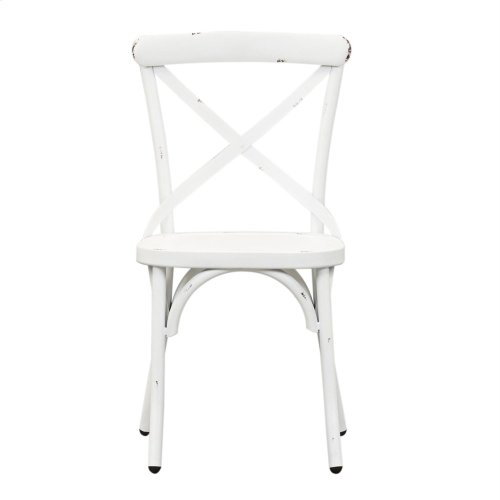 X Back Side Chair - Antique White