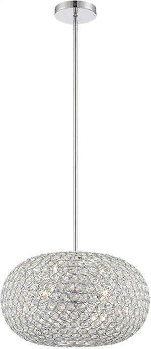 Cyrstal Pendant Lamp, Chrome/crystal, Type Jcd/g9 40wx3