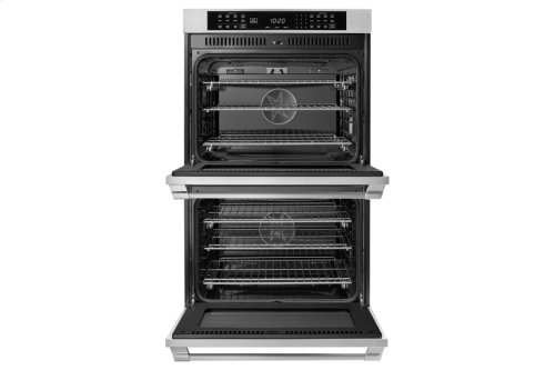 "30"" Heritage Double Wall Oven, Silver Stainless Steel, Pro Style handle"