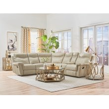 Manual Leather 3PC Sectional Sofa Set