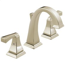 Polished Nickel Two Handle Widespread Lavatory Faucet