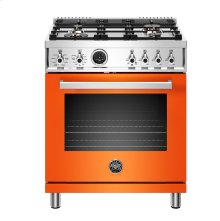 "30"" Professional Series range - Electric self clean oven - 4 brass burners"