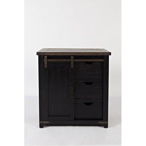 "Madison County 32"" Barn Door Accent Cabinet - Vintage Black"
