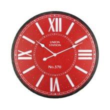 Crimson Station Wall Clock