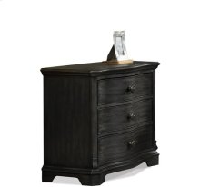 Corinne Three Drawer Nightstand Ebonized Acacia finish