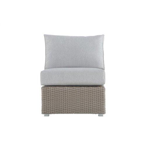 Emerald Home Reims Armless Chair Spuncrylic 7101-71 Sketch Grey Ou1207-15-09