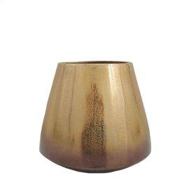 "Gold Ombre Metal Vase 8.5"""