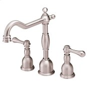 Brushed Nickel Opulence® 2H Widespread Lavatory Faucet w/ Metal Touch Down Drain 1.2gpm