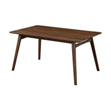 "Emerald Home Simplicity Rectangular Dining Table 60"" X 36"" X 30"" Walnut D550-12"