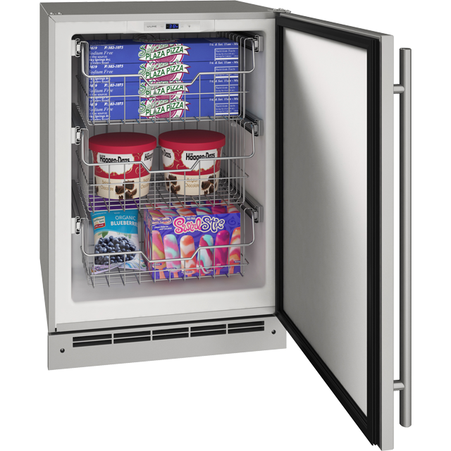 "Outdoor Collection 24"" Convertible Freezer With Stainless Solid Finish and Field Reversible Door Swing (115 Volts / 60 Hz)