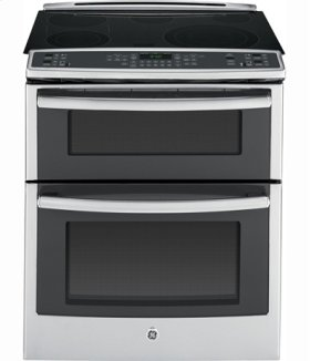 """30"""" Slide In Double Oven Electric True Convection Range"""